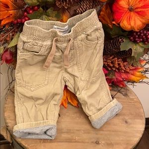Baby Boy Gray Lined corduroy fall harvest pants